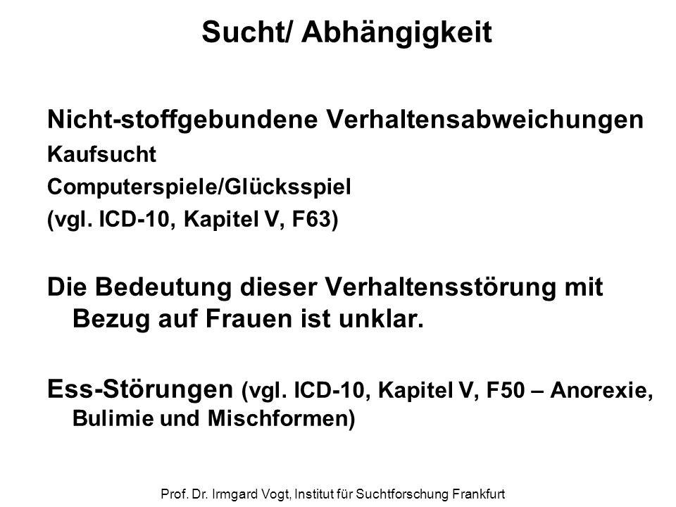 Prof. Dr. Irmgard Vogt, Institut für Suchtforschung Frankfurt