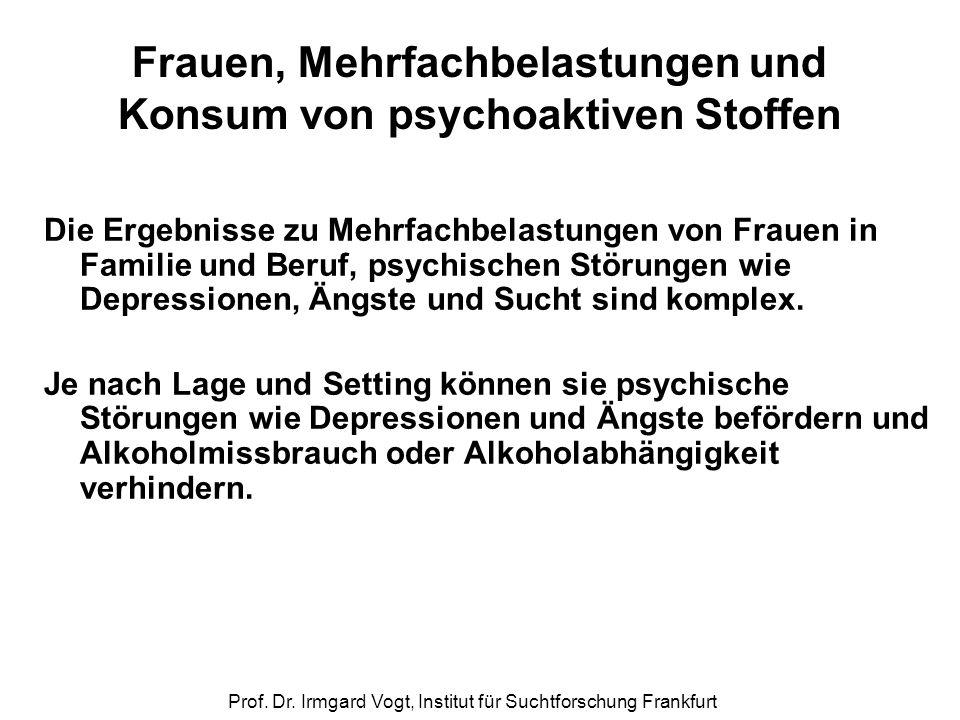 Frauen, Mehrfachbelastungen und Konsum von psychoaktiven Stoffen