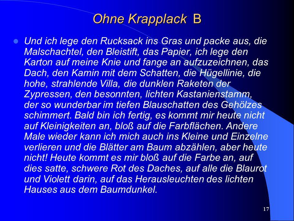 Ohne Krapplack B