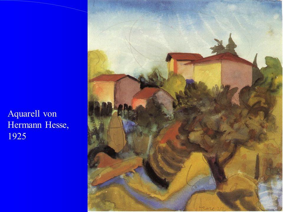 Aquarell von Hermann Hesse, 1925