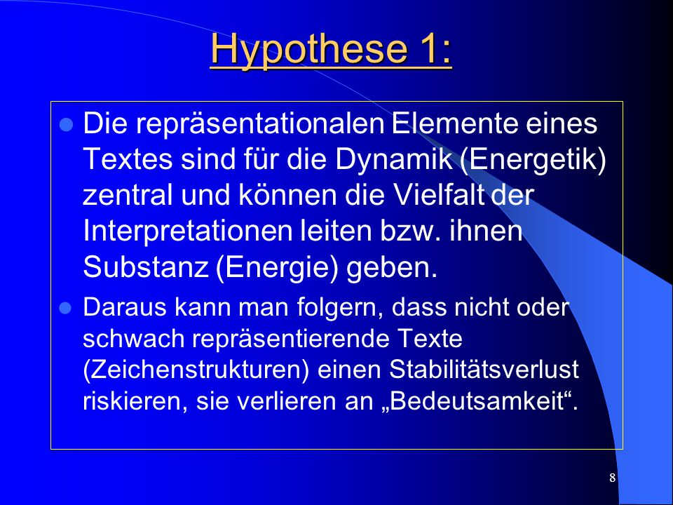 Hypothese 1: