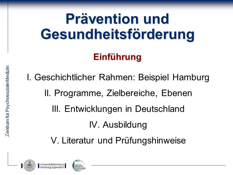 Prävention und Gesundheitsförderung Einführung