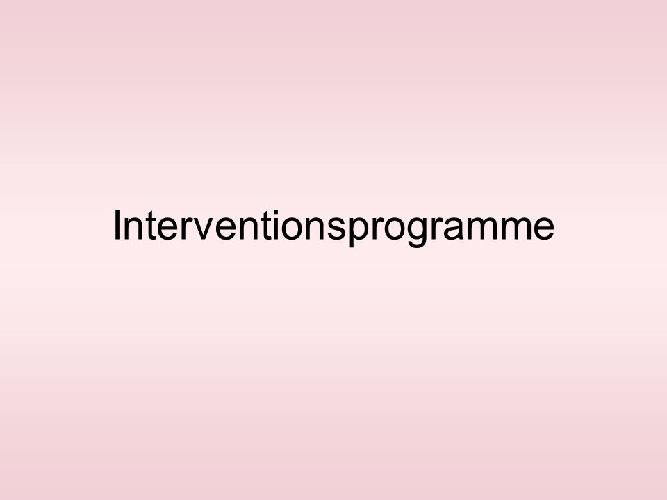 Interventionsprogramme