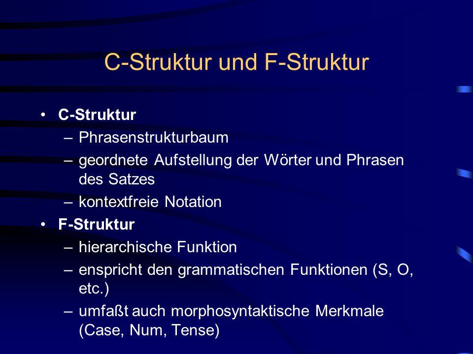 C-Struktur und F-Struktur
