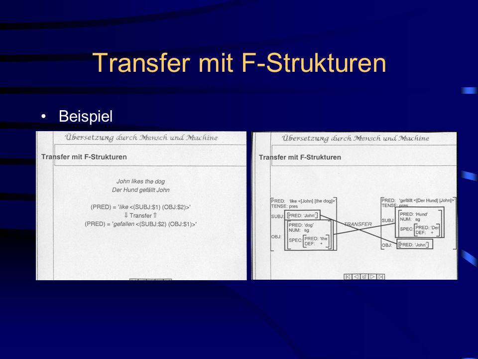 Transfer mit F-Strukturen
