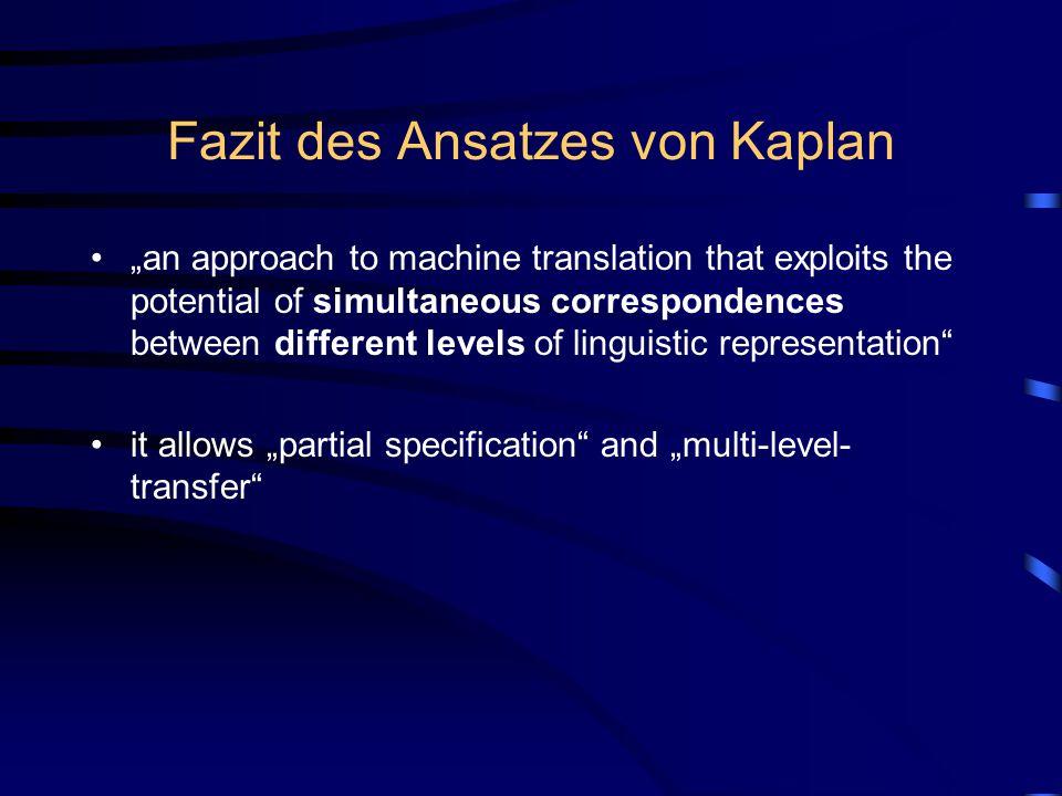 Fazit des Ansatzes von Kaplan