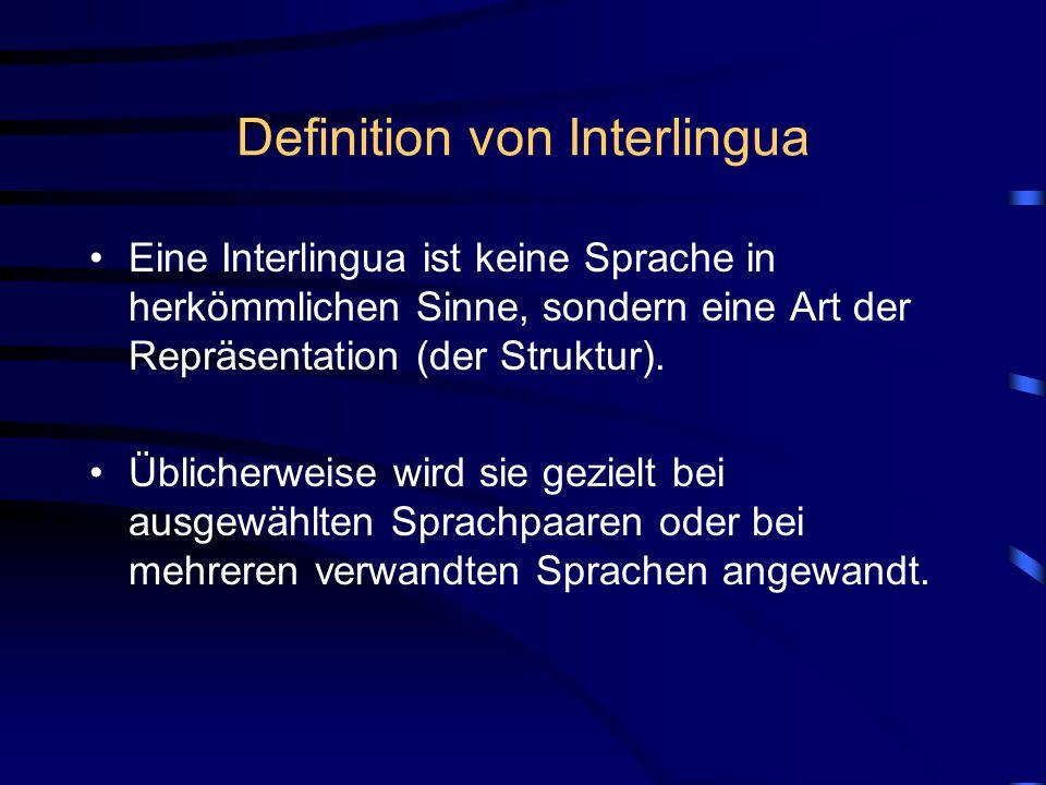 Definition von Interlingua