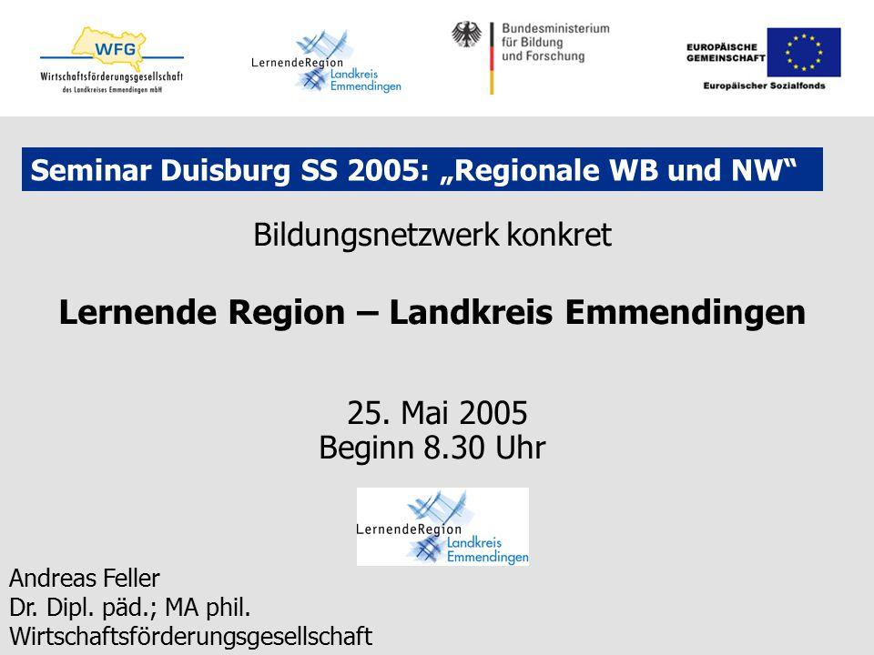 "Seminar Duisburg SS 2005: ""Regionale WB und NW"