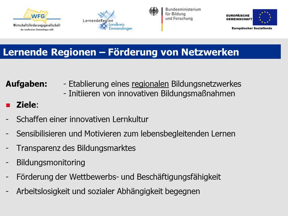 Lernende Regionen – Förderung von Netzwerken