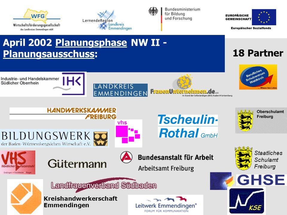 April 2002 Planungsphase NW II - Planungsausschuss: