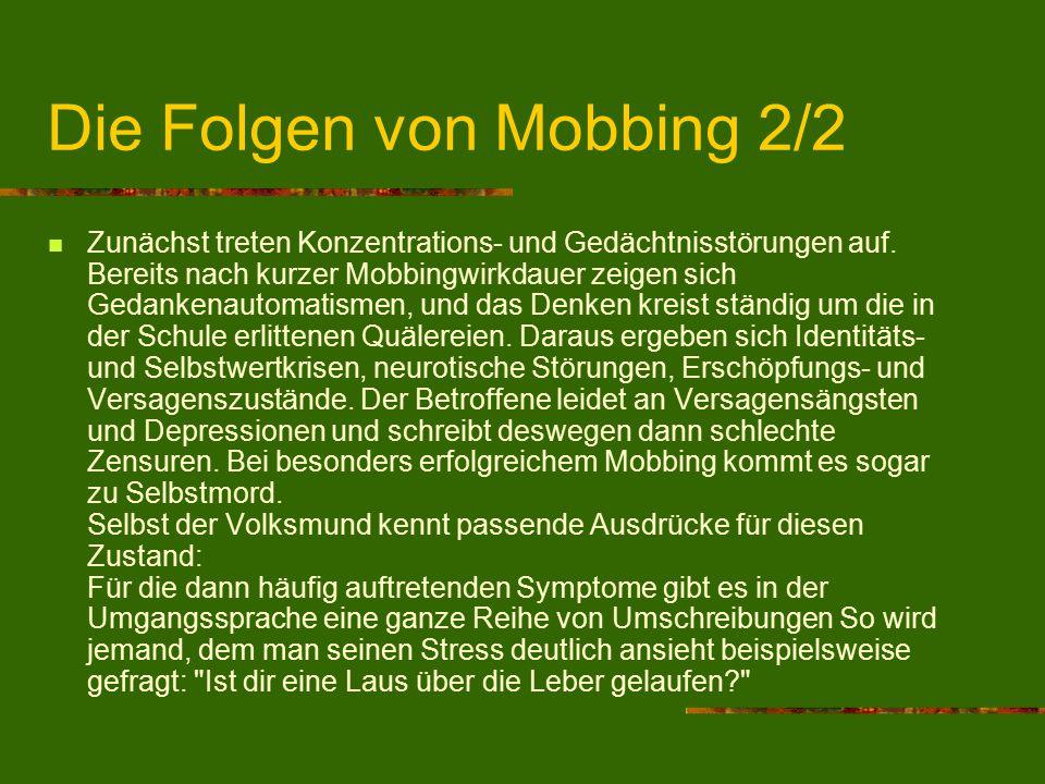 Die Folgen von Mobbing 2/2