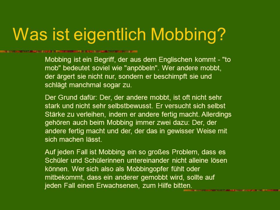 Was ist eigentlich Mobbing