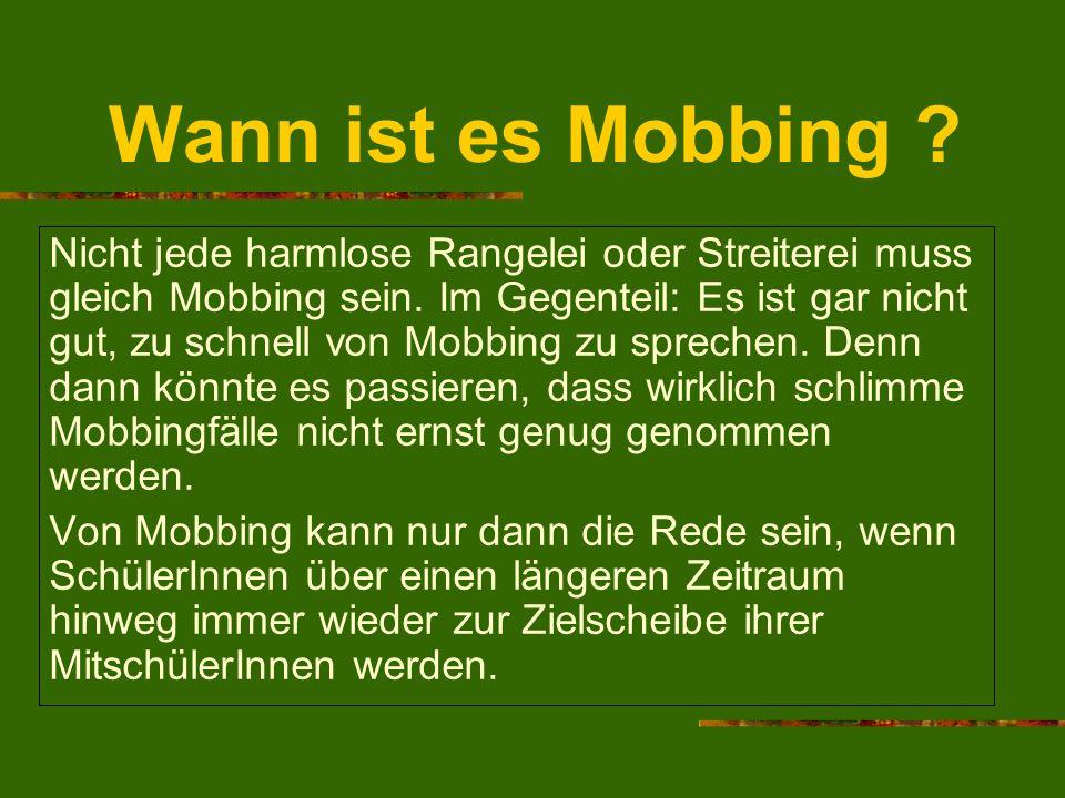 Wann ist es Mobbing