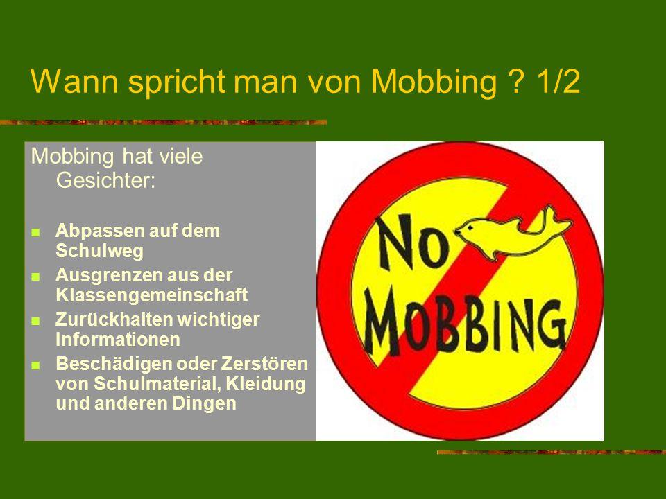 Wann spricht man von Mobbing 1/2