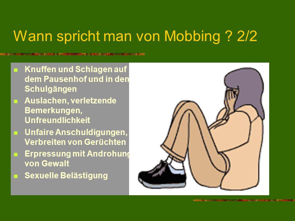 Wann spricht man von Mobbing 2/2
