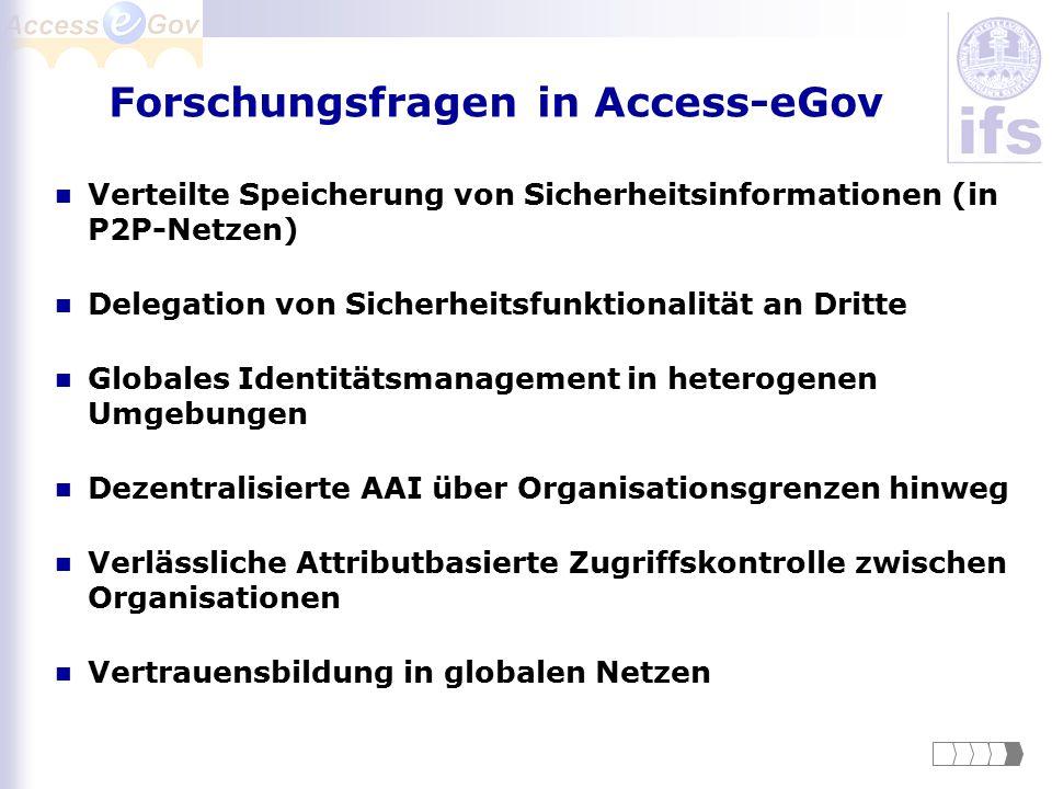 Forschungsfragen in Access-eGov
