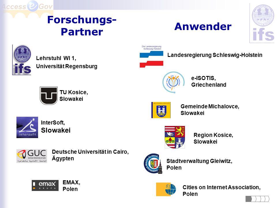 Forschungs- Partner Anwender