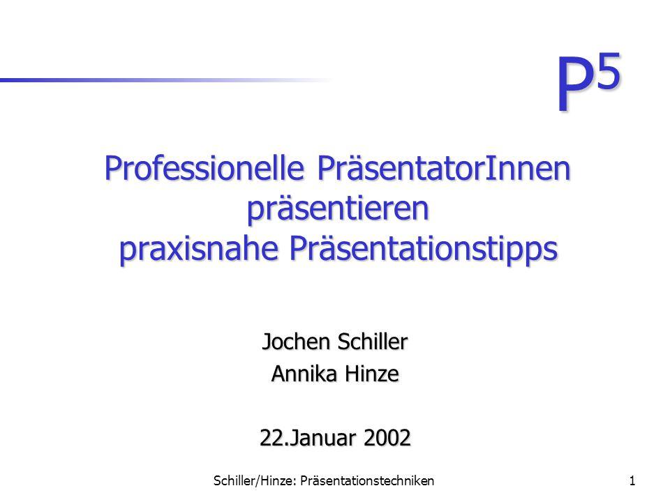 Jochen Schiller Annika Hinze 22.Januar 2002