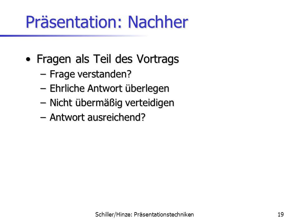 Präsentation: Nachher