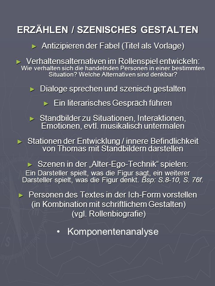 ERZÄHLEN / SZENISCHES GESTALTEN