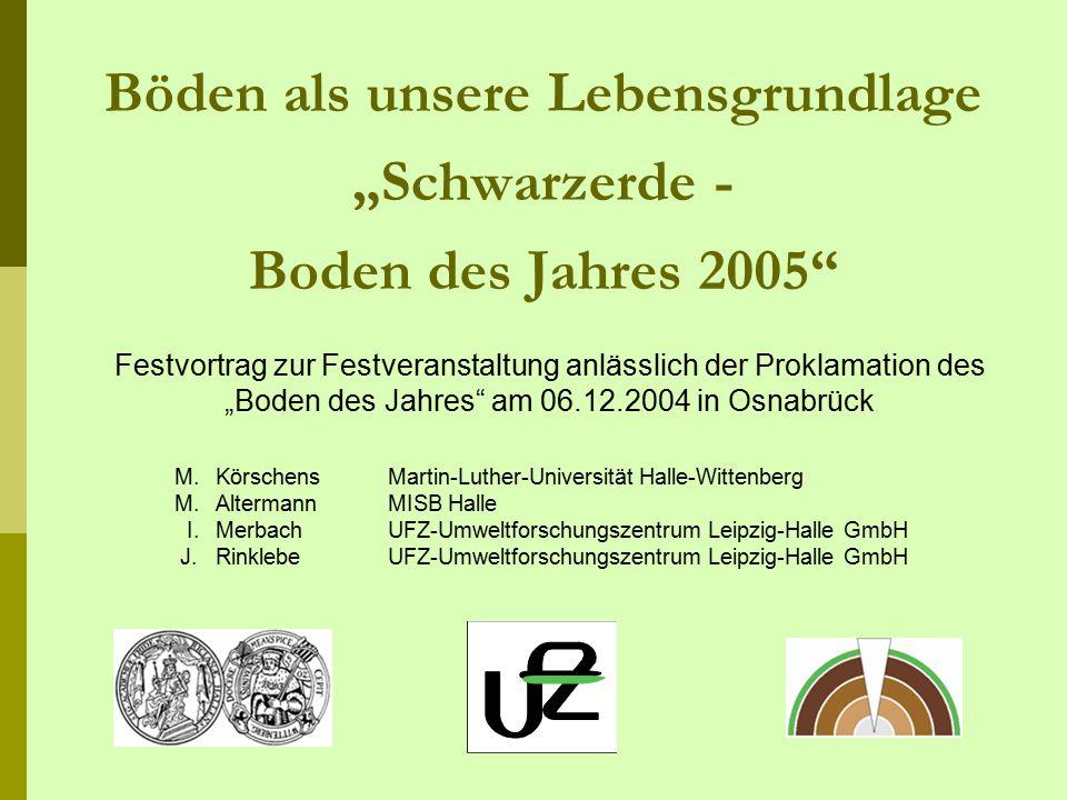 """Böden als unsere Lebensgrundlage """"Schwarzerde - Boden des Jahres 2005"""
