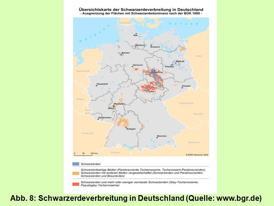 Abb. 8: Schwarzerdeverbreitung in Deutschland (Quelle: www.bgr.de)
