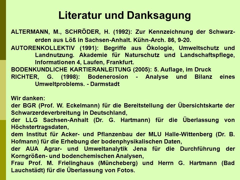 Literatur und Danksagung