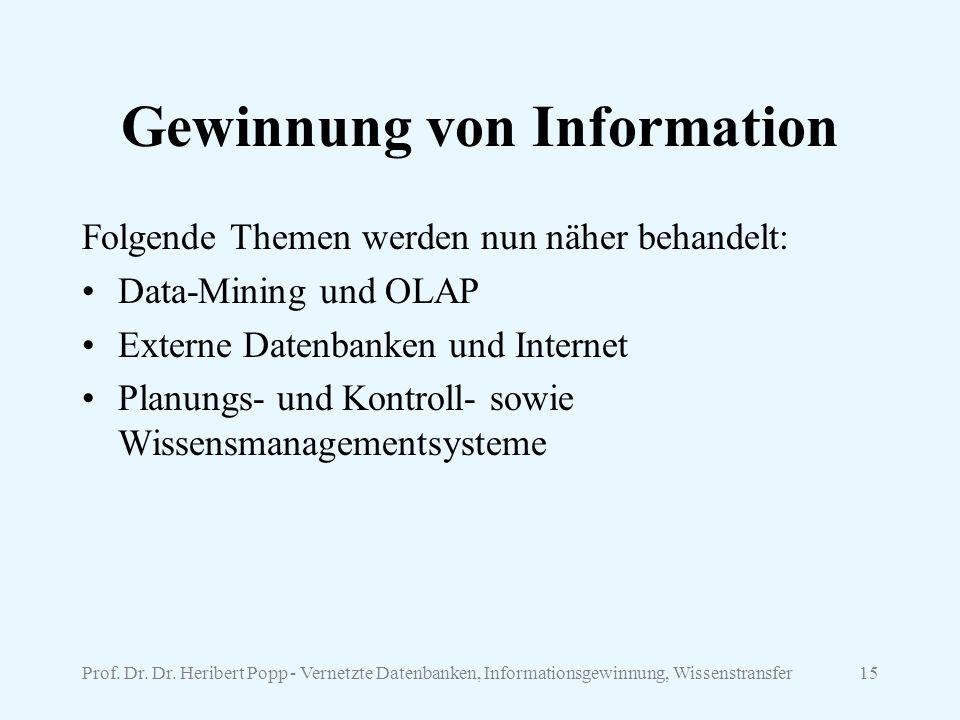 Gewinnung von Information