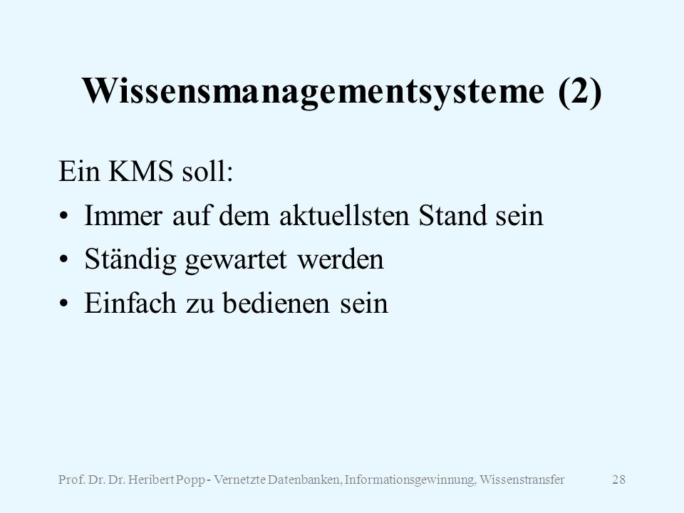 Wissensmanagementsysteme (2)