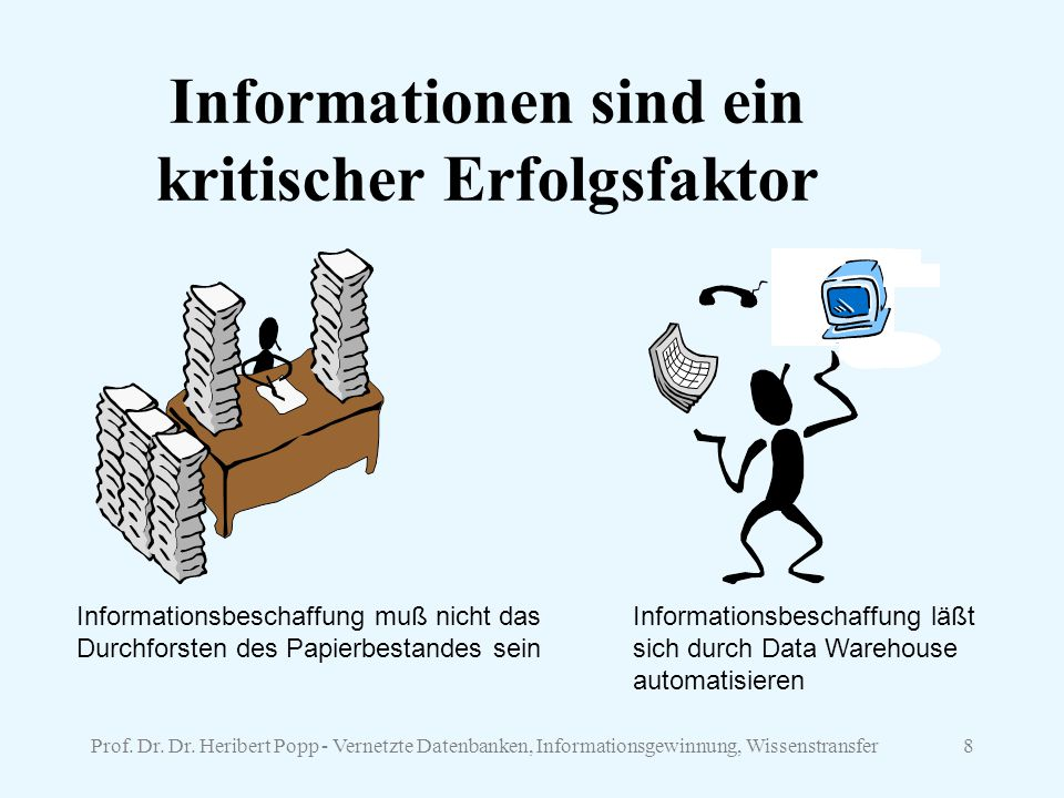 Informationen sind ein kritischer Erfolgsfaktor