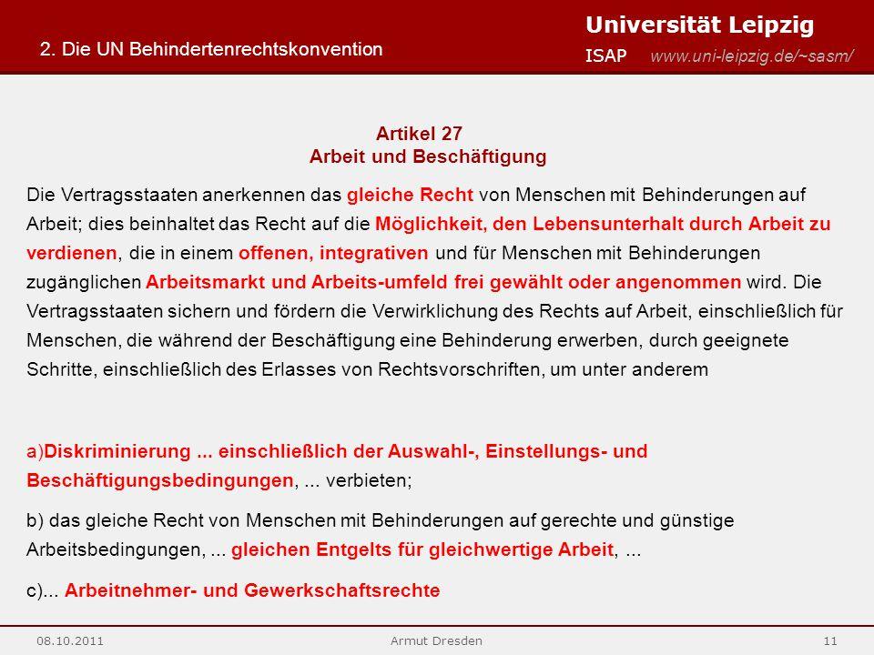 2. Die UN Behindertenrechtskonvention