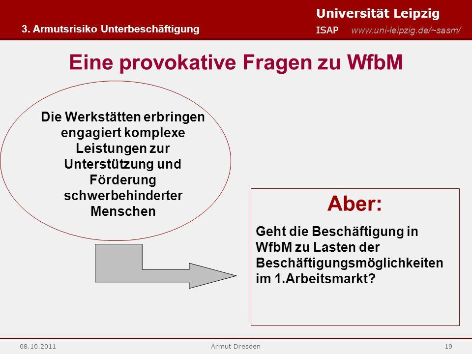 Eine provokative Fragen zu WfbM