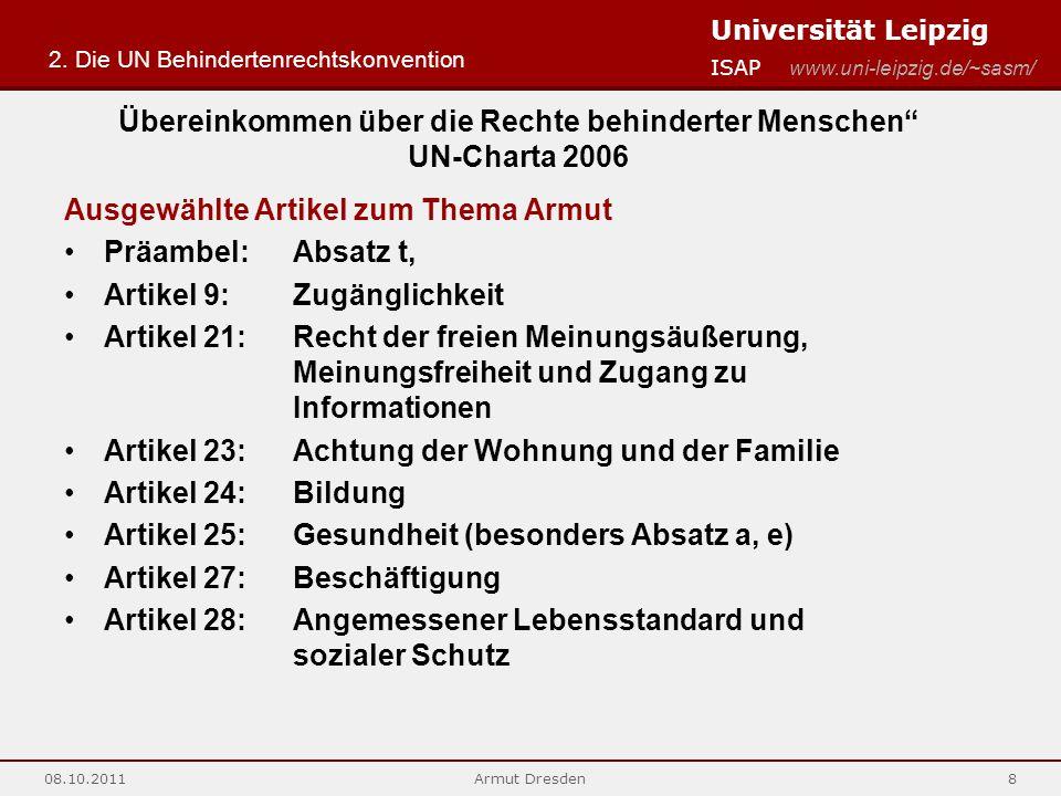 Übereinkommen über die Rechte behinderter Menschen UN-Charta 2006