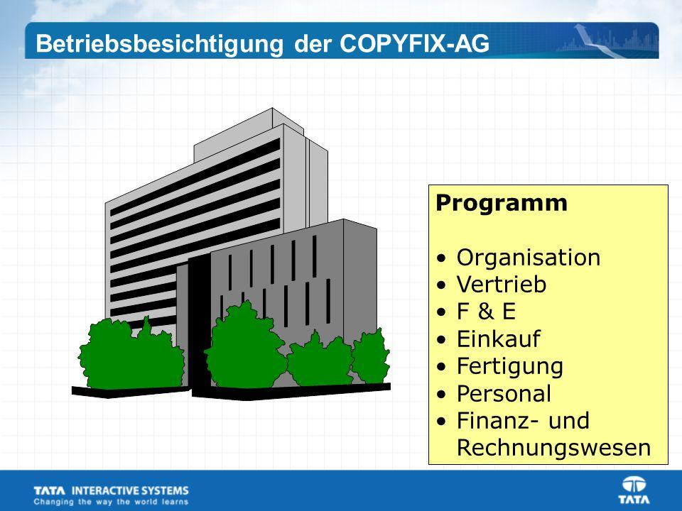 Betriebsbesichtigung der COPYFIX-AG