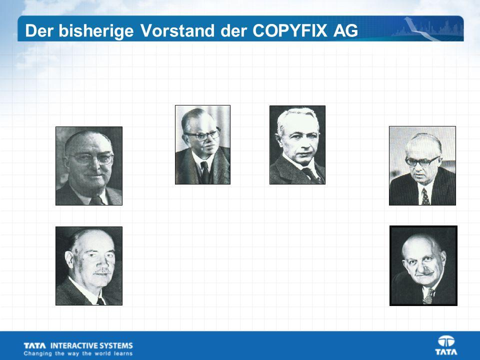 Der bisherige Vorstand der COPYFIX AG
