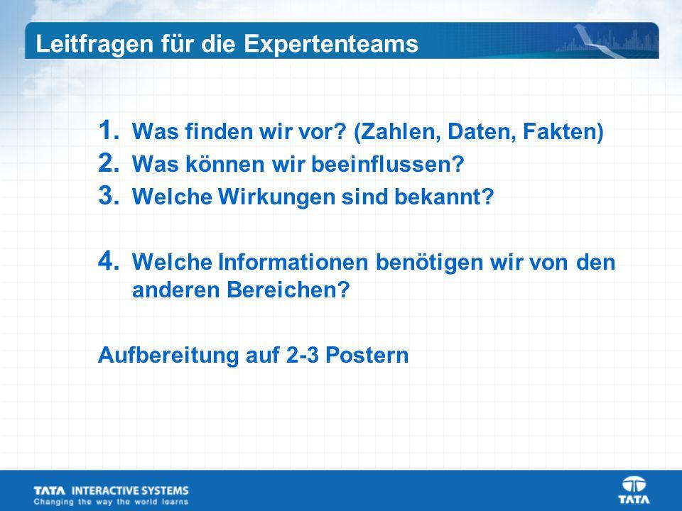 Leitfragen für die Expertenteams