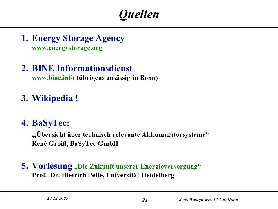 Quellen Energy Storage Agency www.energystorage.org