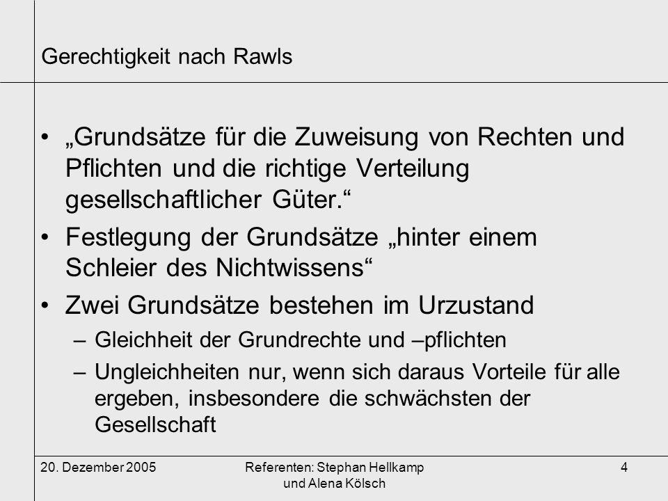 Gerechtigkeit nach Rawls