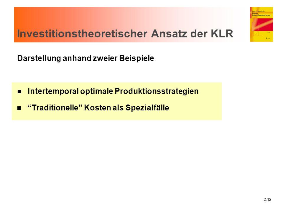 Investitionstheoretischer Ansatz der KLR