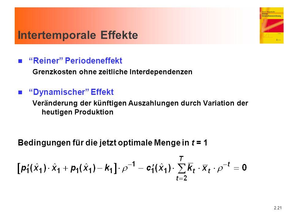 Intertemporale Effekte