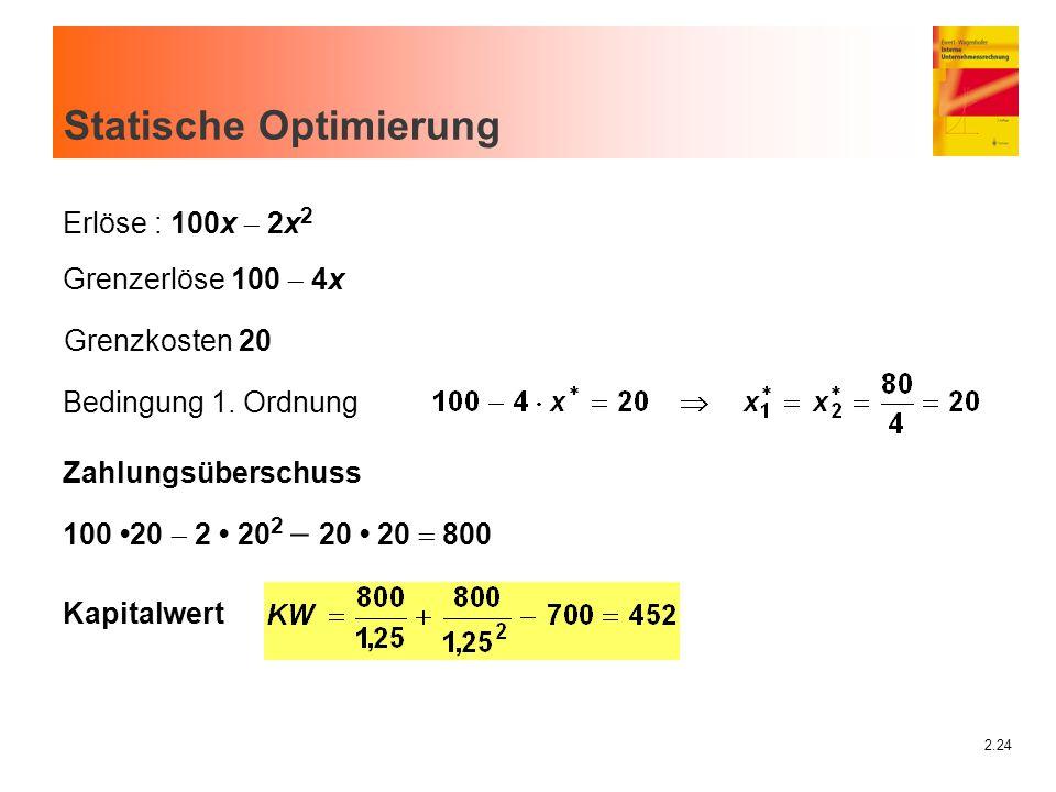 Statische Optimierung