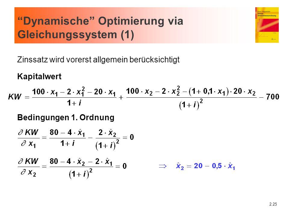 Dynamische Optimierung via Gleichungssystem (1)