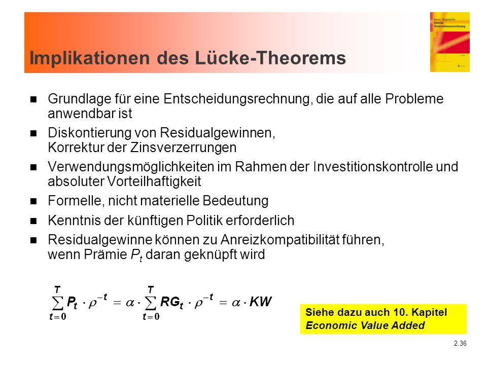 Implikationen des Lücke-Theorems
