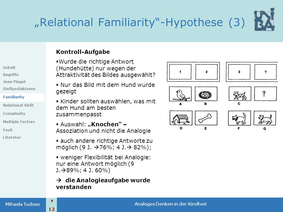 """Relational Familiarity -Hypothese (3)"