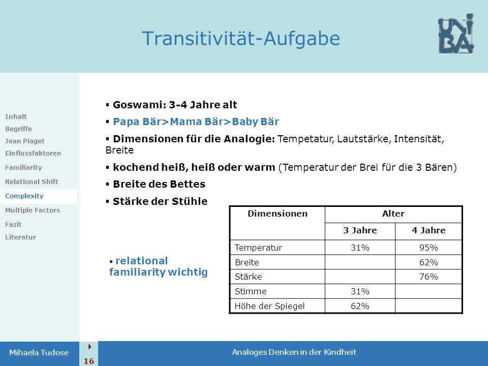 Transitivität-Aufgabe
