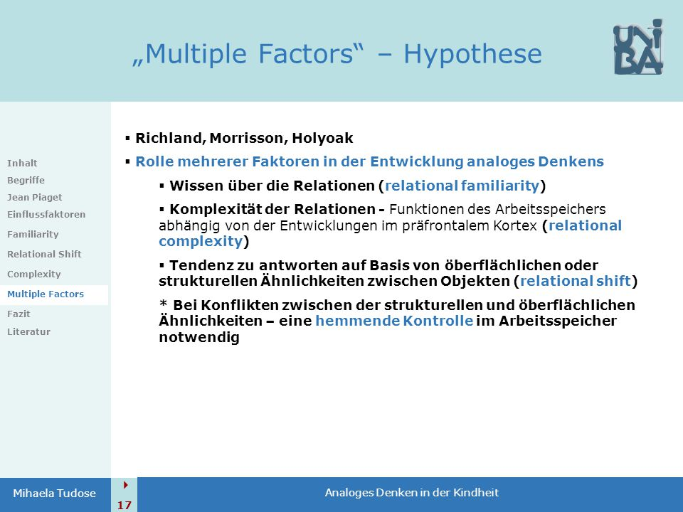 """Multiple Factors – Hypothese"