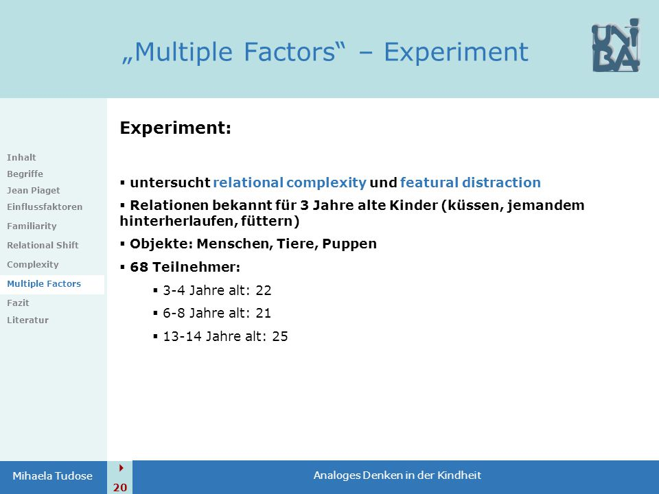 """Multiple Factors – Experiment"