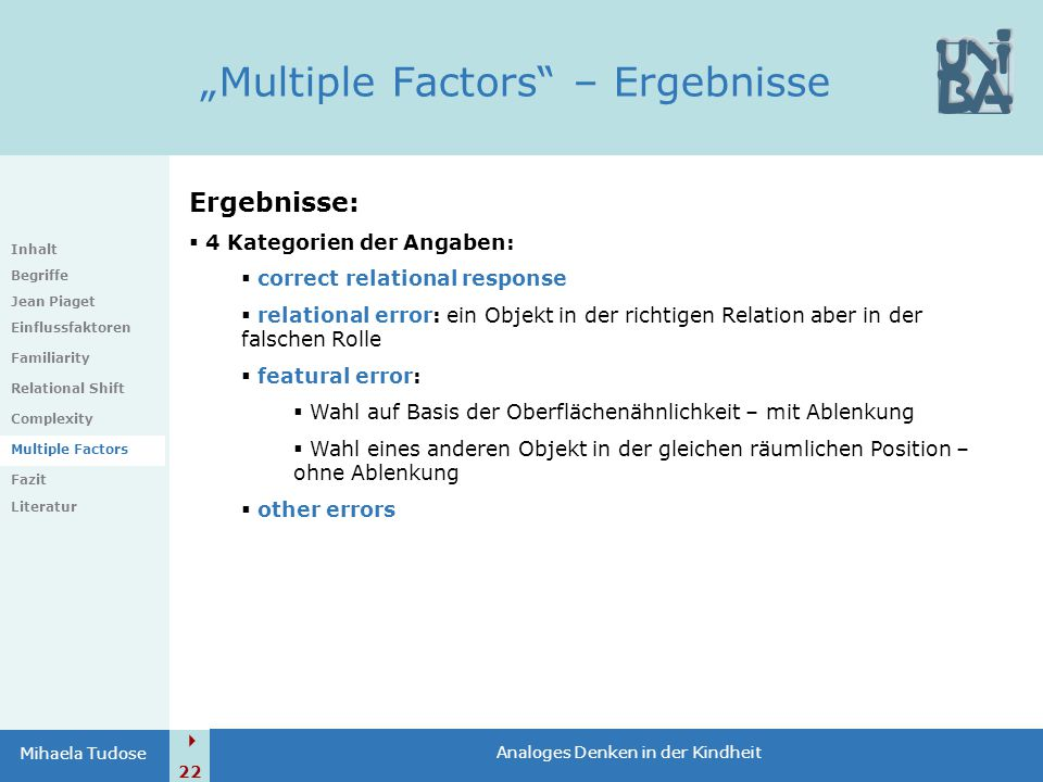 """Multiple Factors – Ergebnisse"