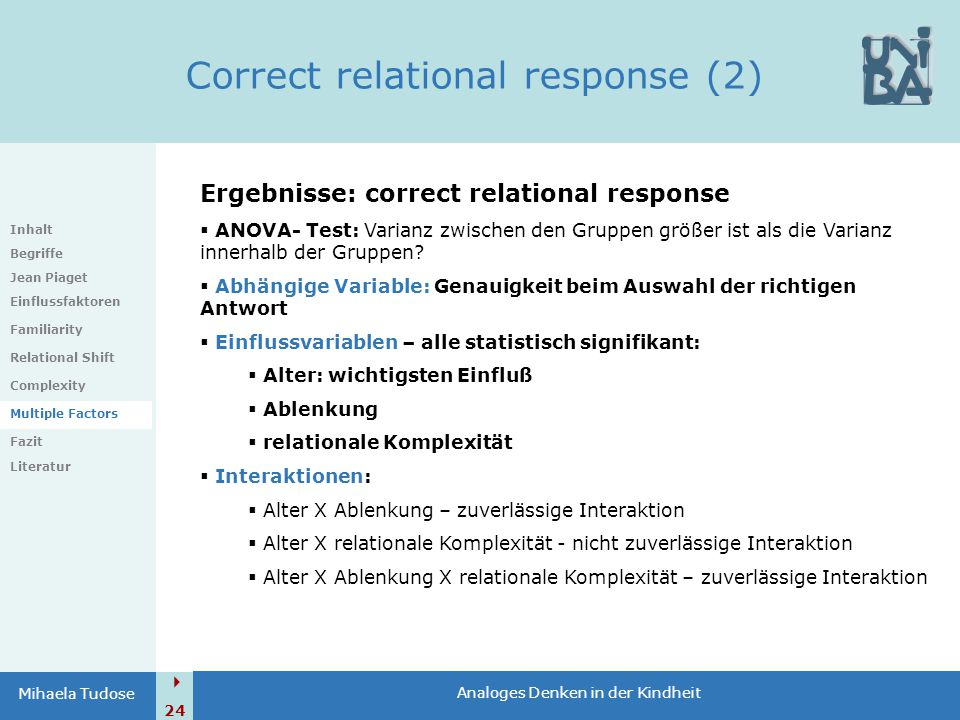 Correct relational response (2)
