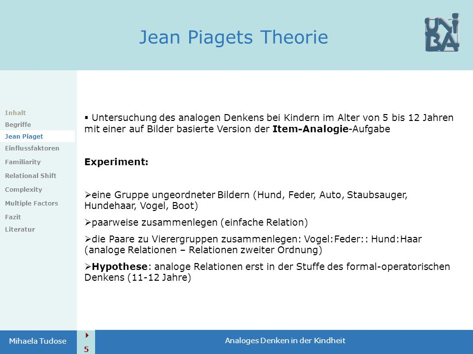 Jean Piagets Theorie